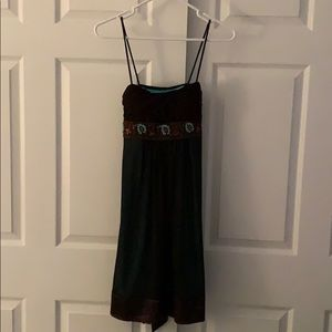 Brown & Green Spaghetti Strapped Dress- NWT!